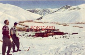 1949 SUN VALLEY, IDAHO - WINTER SCENE - Union Pacific Pictorial Post Card