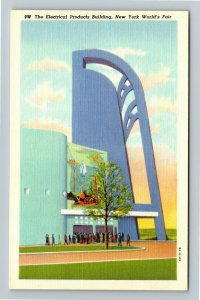 1939 New York World's Fair - The Electric Products Building - Linen Postcard
