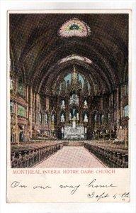 MONTREAL, Quebec, Canada, PU-1905; Interia Notre Dame Church