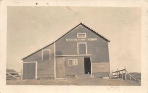 F36/ Bigham Lake Minnesota RPPC Postcard c1910 Bachelors Farm Barn