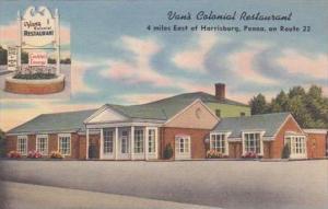 Pennsylvania Harrisburg Vans Colonial Restaurant