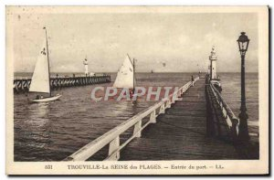 Old Postcard Trouville Reine Des Plages Entree Charter