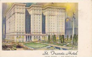 St. Francis Hotel, Union Square, San Francisco, California, PU-1951