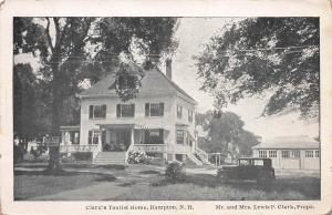 Clark's Tourist Home, Hampton, New Hampshire, Early Postcard, unused