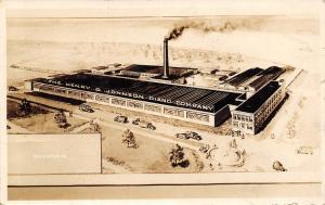 Bellevue Iowa~Henry G Johnson Piano Company~Factory~Architect Drawn~1927 RPPC