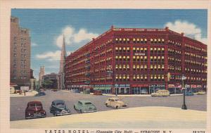 New York Syracuse Yates Hotel Curteich