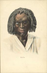 ethiopia, Native Galla Type Male, Oromo (ca. 1899)