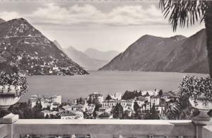 Switzerland Lugano Paradiso e Monte Bre 1954 Photo