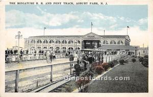 Asbury Park, New Jersey, NJ, USA Postcard The Miniature RR and Pony Track Unused