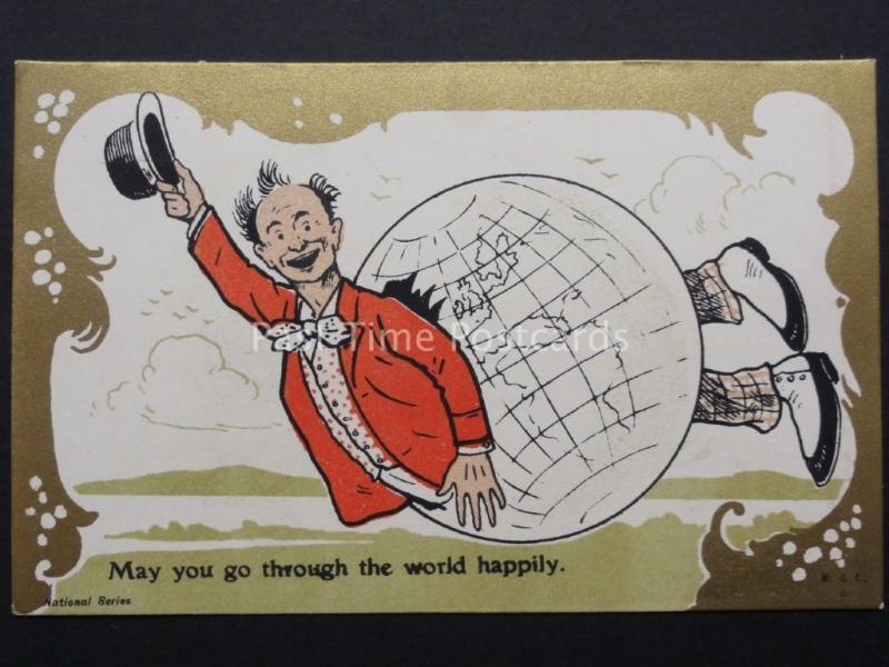 BD CARTE POSTALE : May You Go par du monde avec joie c1908 par M & L ART