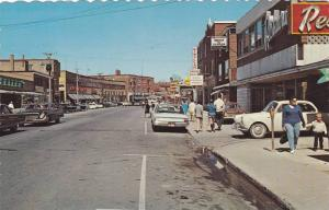 Vue de /ouest sur la rue St-Germain , RIMOUSKI , Quebec , Canada , 1960s