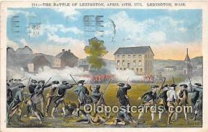 Battle of Lexington, April 19, 1775 Lexington, Mass Postcard Post Card Lexing...
