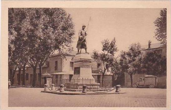 Algeria Boufarik Statue du Sergent Blandan