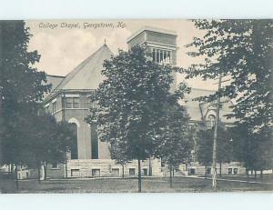 Unused Divided-Back CHURCH SCENE Georgetown - Near Lexington Kentucky KY G3868