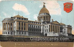 State Capitol Jackson, Miss, USA Unused