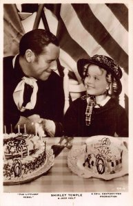 Shirley Temple and Jack Holt a 2th Century Fox Production Film Star Postcard