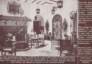 Martinez Spanish Central London Restaurant Bar Lounge Old Postcard
