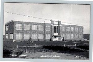 RPPC of Auburn NE, High School, Nebraska Postcard