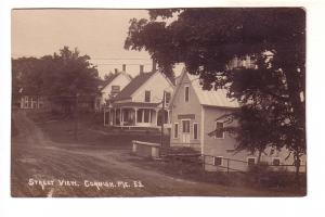 Real Photo, Street View, Cornish Maine, Eastern Illustrated Company Photo