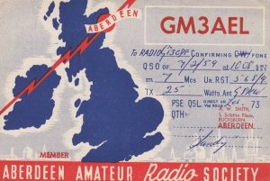 MAP: UK & Ireland , Aberdeen Amateur RADIO Society , 1940s