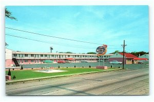 Postcard NJ Neptune City Charline Motel 1950's Old Cars H03