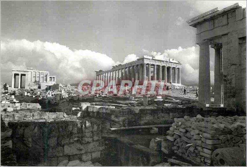 Postcard Modern Athens The Parthenon el Propylees the Erechtheion