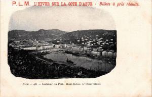 CPA AK NICE - Intérieur du Port Mont-Boron L'Observatoire (513685)