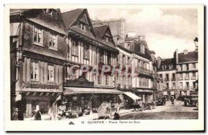 Old Postcard Quimper Place Earth Duc Grand Bazaar