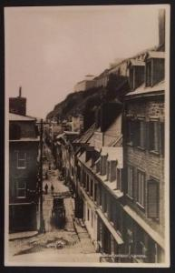 Little Champlain Street and Citadel Quebec Canada Valentine-Black Company RPPC