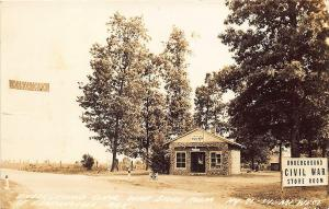 Bentonville AR Underground Civil War Store Room RPPC Postcard