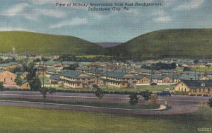 INDIANTOWN GAP, Pennsylvnia, 1930-1940s; View Of Military Reservation From Po...