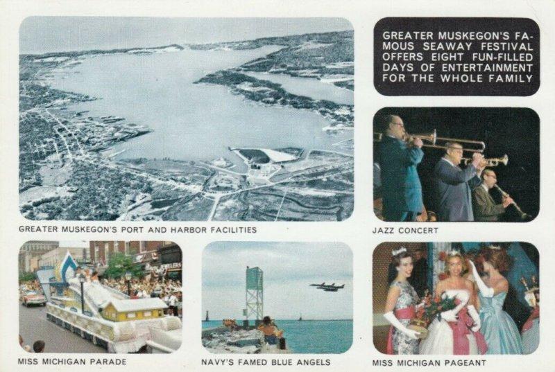 MUSKEGON, Michigan, 1963; Seaway Festival, 5-views
