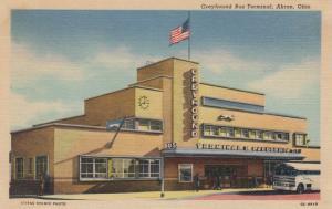 AKRON , Ohio, 1930-40s; Greyhound Bus Terminal
