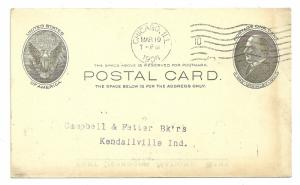 Postal Card,Fort Dearborn National Bank, Chicago, 1906