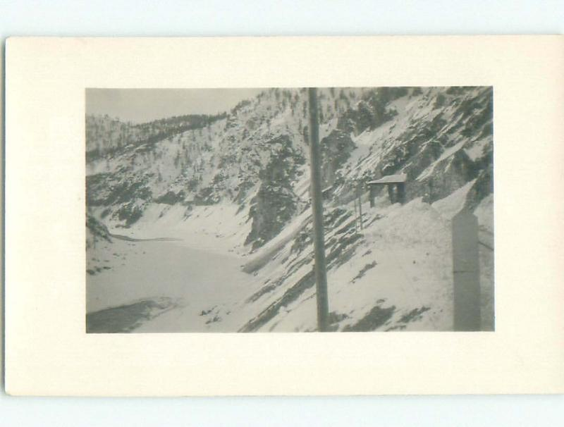 Pre-1918 rppc ROCKY MOUNTAINS Banff & Jasper & Canmore & Lake Louise AB W1088