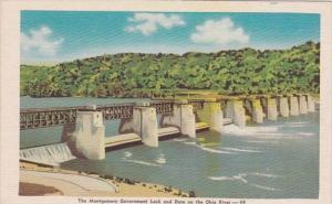 Pennsylvania Beaver County Montgomery Government Lock and Dam On Ohio River D...
