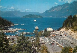 Postcard Canada West Vancouver BC Horseshoe Bay panorama