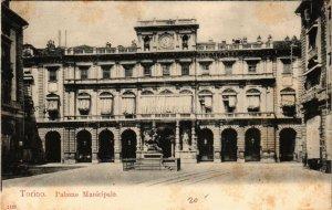 CPA AK TORINO Palazzo Municipale ITALY (540474)