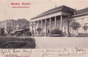 Baden-Baden , Germany , PU-1902 ; Converfationshaus