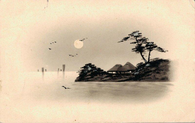 Japan Hand Painted Postcard 03.90