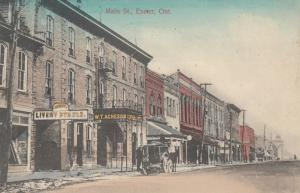 EXETER , Ontario , 1914 ; Main Street