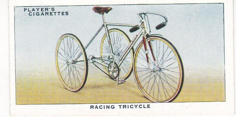 Cigarette Cards Players CYCLING No 33 Racing Tricycle
