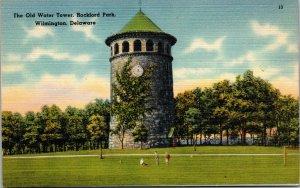 Vtg 1930s Old Water Tower Rockford Park Wilmington Delaware DE Postcard