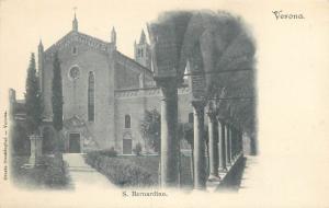 Italy Verona S. Bernardino vintage undivided back postcard