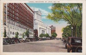 Missouri Saint Louis Lindell Boulevard 1930