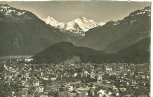 Switzerland, Suisse, Interlaken u Mönch u. Jungfrau Postcard