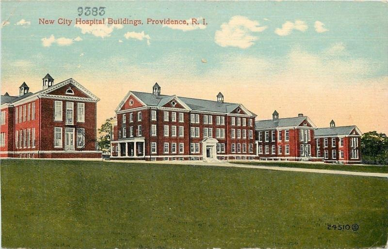 Providence RI~New City Hospital for Communicable Diseases~Eaton Street~1910 PC