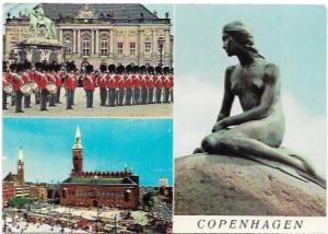Copenhagen, Denmark. Royal Guard, Town Hall, Little Mermaid.
