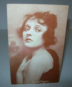 Carmel Myers Postcard Unused Vintage American Actress Silent Films Arcade Card