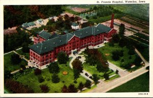 Iowa Waterloo St Francis Hospital Curteich